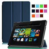 "Fintie Amazon All New Kindle Fire HD 7"" SmartShell Case Cover Ultra Slim Lightweight with Auto Sleep / Wake Feature - Navy (will only fit All New Kindle Fire HD 7 2nd Generation 2013 Model)"