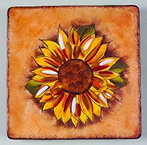 Amazon.com: Clay Art Tuscan Sunflower Salad Plate, Fine China