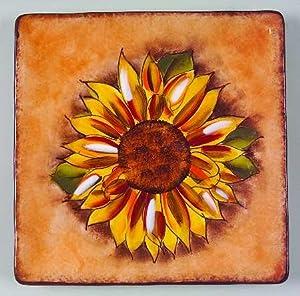 Amazon.com: Clay Art Tuscan Sunflower Salad Plate, Fine China