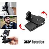 Ourmes 360 Degree Rotatable Backpack Travel Quick Release Clamp Cap Clip Hat Mount + Screws for Gopro HD Hero 4 Hero 3+ Hero 3 Hero 2 Hero 1, HD & SJ4000 Hero cameras (Large Size)