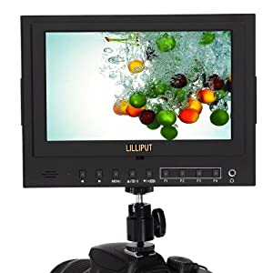 Lilliput 5D-II/O/P Monitor 7 inch PEAKING, ZEBRA, FALSE COLOR, ZOOM,... for Canon 5DII 1024x600 HD HDMI IN/OUT Peaking False Color Zebra Sony NP-F