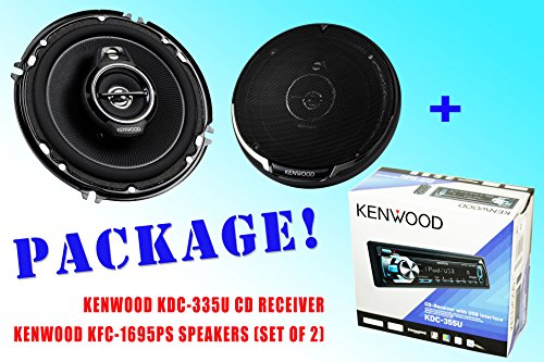 Package ! Kenwood Kdc-335U Cd-Receiver + Kenwood Kfc-1695Ps Car Speakers