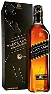 Johnnie Walker Black Label Premium Blended Scotch Whisky 70 cl