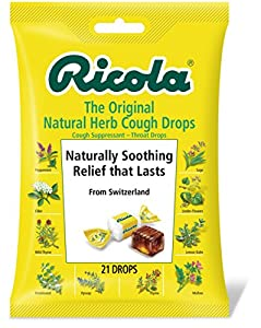 Ricola  Cough Drops, Natural Herb , 21 Drops (Pack of 12)