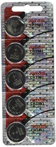 Maxell CR2032-B5MXL-Blister di pillas tipo a bottone al litio CR2032 3 V, confezione da 5 pezzi