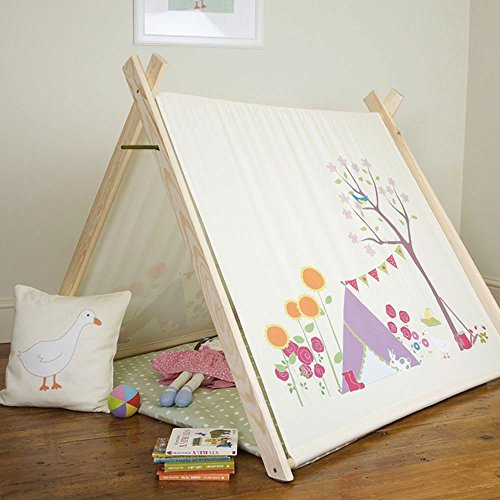 Kinder Spiel Zelt - Gracie's Garten - Designiert, Bedruckt & handgefertigt in Großbritannien - nicht personalisiert, Drinnen