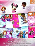 Disney Multi -Character Pack 10 Girls Panties 100% Cotton! 2t/3t