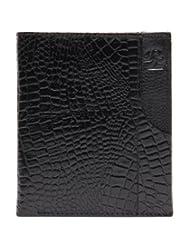 RL W 39- Blk Black Leather Miller Wallet For Men