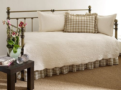 Buy Bargain Stone Cottage Trellis Collection 5-Piece Daybed Set, Ivory