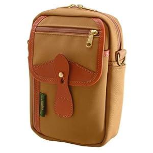 Billingham Stowaway Airline Compact Shoulder Bag (Khaki with Tan Leather Trim)