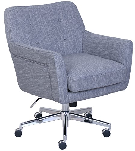 "Serta ""Ashland"" Winter River Gray Home Office Chair 1"