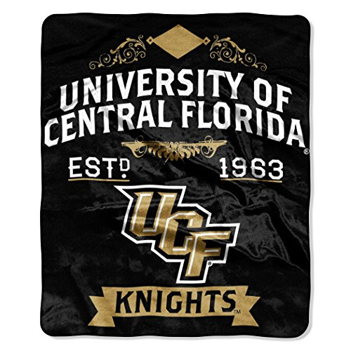 NCAA Central Florida Knights College Label Raschel Throw, 50 x 60-Inch (Central Florida Knights compare prices)