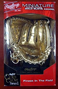 Rafael Palmeiro Autographed Hand Signed Rawlings Mini Gold Glove 3X GG PSA DNA by Hall of Fame Memorabilia