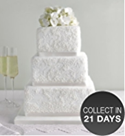 Lace Sponge Wedding Cake