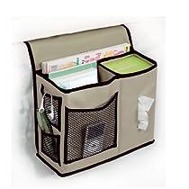 Richards Homewares Gearbox Bedside Caddy, Kahki/Black