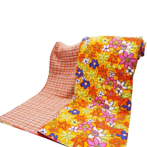 Home Décor Yellow Queen Size edredón estampado de flores decorativo Colcha Reversible algodón Throw India 112X92 pulgadas