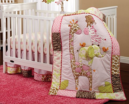 Pretty Pink Giraffe Baby Bedding Sets