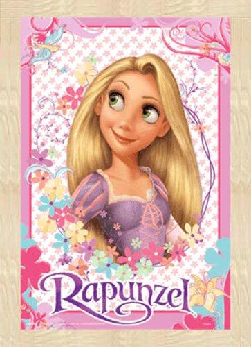 Disney – 3D Poster A3 – Rapunzel + Wechselrahmen der Marke Shinsuke® A3-3D aus schwerem MDF Holzfaserwerkstoff, Buche – ohne Acrylglas-Scheibe. kaufen