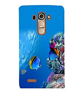 printtech Fish Coral Sea Back Case Cover for LG G4::LG G4 H815