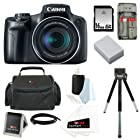 Canon PowerShot SX50 HS 12.1 MP Digital Camera with 50x Optical IS Zoom + NB-10L Battery + 8pc Bundle 16GB Deluxe Accessory Kit
