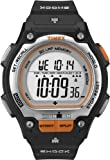 Timex Men's T5K582 Ironman Traditional Shock Steel Thirty-Lap Black Resin-Strap Watch