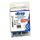 Kreg SML-C150-100 Pocket Screws 1-1/2-Inch, 8 Coarse, Washer-Head, 100-Count (Tamaño: 100 Pack)