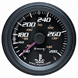 Equus 6242 Water Temperature Gauge - Black