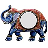 Ghanshyam Art Wood Elephant Wall Mirror (60.96 Cm X 4 Cm X 45.72 Cm, GAC066)