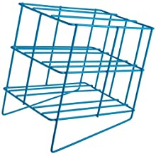 "Bel-Art Scienceware 189420000 Poxygrid Pasteur Pipette Wire Can Rack, 7-1/2"" Length x 5-1/2"" Width x 7-5/8"" Height, 4 Places Pipette"
