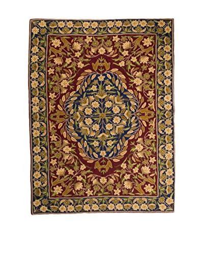 QURAMA Teppich Chain Stitch blau/mehrfarbig 183 x 122 cm