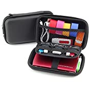 Hard Drive Case 2.5 Hard Drive Bag EVA Shockproof Carrying Travel Pouch For 2.5-Inch Portable External Hard Drive...