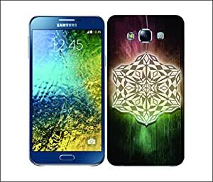 Galaxy Printed 2857 Snowflakes Lantene Hard Cover for Samsung A3