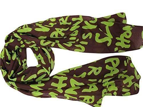designer-inspired-brown-lime-green-graffiti-scarf-shawl-150cm-x-45cm-posted-by-fat-catz