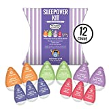 """The Sleepover"" Fun Travel Toiletry Kit. Assortment of 12 Natural Travel Size Toiletries. Convenience without Compromise. PETA Certified and Made in USA (KSO)"