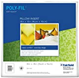 Fairfield Poly-Fil Soft Touch Square Pillow, 18-Inch, White, 1 Pillow