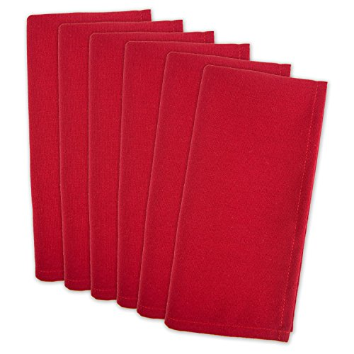 DII 100% Polyester, Machine Washable, Holiday, Dinner Solid Napkins 20x20