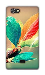 The Racoon Lean blooming branch hard plastic printed back case / cover for Sony Xperia Miro