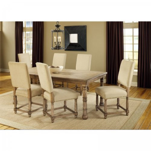 Hartland 7 Piece Dining Set (Light Washed Oak) (See Description)