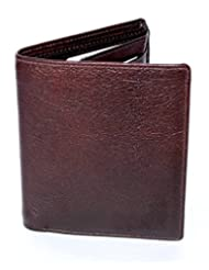 Designer Branded Genuine Pure Leather Bi Fold Money Wallet Purse For Men Gents With Card Slot - B00N3XBSNE