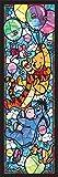 456ピース ジグソーパズル ステンドアート くまのプーさん ステンドグラス ぎゅっとシリーズ(18.5x55.5cm)