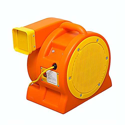 Soleaire 1-HP 1180-CFM 8.5-Amp Inflatable Bounce House Moonwalk Blower, Orange (1hp Blower Motor compare prices)