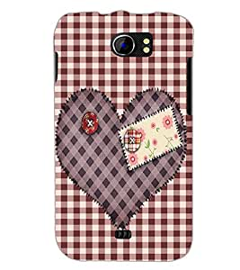 PrintDhaba Heart D-2258 Back Case Cover for MICROMAX A110 CANVAS 2 (Multi-Coloured)