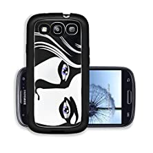 buy Liili Premium Samsung Galaxy S3 Aluminum Case Sketch Of Beautiful Woman Face Blue Eyes And Pink Lips Illustration In Black White Image Id 22747781
