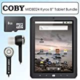 Coby MID8024 8 Inch Kyros 4G Android Touchscreen Internet Tablet Bundle