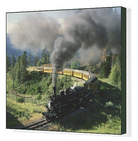 canvas-print-of-durango-and-silverton-vintage-steam-engine-hermosa-colorado-united-states-of