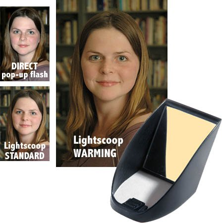 Professor Kobre's Lightscoop, Warm Version Bounce Flash Device, Universal model, fits over the Pop-up Flash of most SLR Cameras (American Photo Editor's Choice 2008)