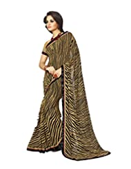 AG Lifestyle Beige Georgette Saree With Unstitched Blouse SNS222A