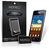 MOFRED® 10 in Pack Screen Protector Value Pack For Samsung Galaxy S2 II i9100 with Cleaning Cloth And Application Card