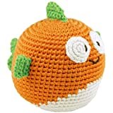 Dandelion Hand Crocheted Roly Poly Rattle Ball, Fish