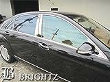 BRIGHTZ ベンツ Sクラス W221 超鏡面ステンレスメッキピラーパネル バイザー 有用 8PC mercedes benz S350 S550 S63 ハイブリッド ハイブリット ロング S600 S65 S500 AMG ロリンザー カールソン Lorinser Carlsson L ブラバス BRABUS 11178